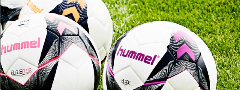 футбольные мячи, спортивные аксессуары Hummel
